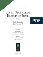 Textos Políticos Da História Do Brasil - Volume1
