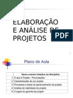 Elaboracao e Analise de Projetos