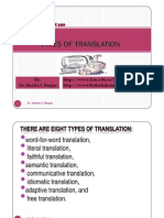 Types of Translation, By Dr. Shadia Yousef Banjar