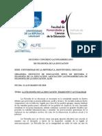 Segundo Congreso Latinoamericano de FilosofÍa de La EducaciÓn(2)