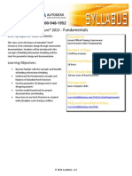 Syllabus FY15 Autodesk Revit Structure Fundamentals