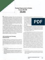 Psicologia Organizacional en Colombia