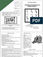 Diptico Dx Psicosexual en La Infancia - HPV 2014