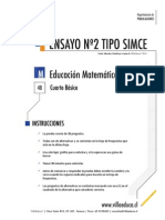 Ensayo2 Simce Matematica 4basico 2014 Forma b