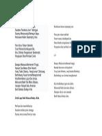 Lirik Budi Bahasa