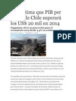 FMI Estima Que PIB Per Cápita de Chile Superará Los US