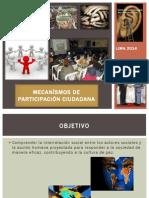 Mecanismos de Participacion Ciudadana 2014