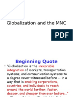 Globalization and the MNC