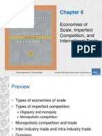 Chapter 6 - Economies of Scale, Imperfect Competition, And International Trade