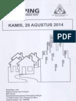 Kliping Berita Perumahan Rakyat, 28 Agustus 2014