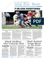 The Daily Tar Heel Football Preview for 2014 Season