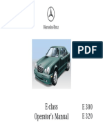 1996 E320 Owners Manual Pt1