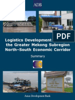 AsDB, 2008, Logistics Development Study of the Greater Mekong Subregion North–South Economic Corridor