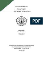 ZnCl2 kompleksometri