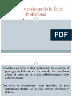 Dimensiones de La Etica Profesional