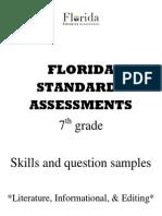 fsa question stems - 7th grade