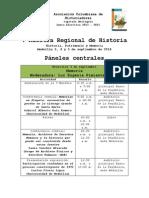 Programación Oficial v Muestra Regional de Historia