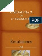 Emulsiones Unidad No. 3