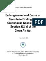 EPA Endangerment TSD