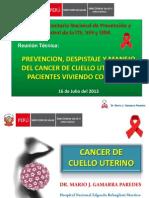 Cancer Cuello Uterino y Vih 2013