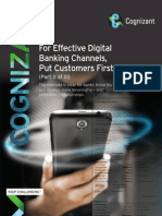 For Effective Digital Banking Channels, Put Customers First (Part II of III)