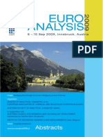 Euroanalysis XV, Innsbruck, 2009, Congress Abstracts