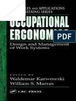 occupational ergonomics=work systems