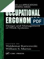 occupational ergonomics=work systems