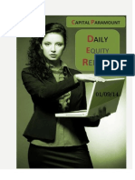 Daily Equity Report 1st Sep by CapitalParamount