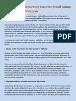 Harver Health Insurance Counter Fraud Group Fundamental Principles