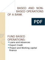 Fund Based and Non-Fund Based Operations of the Bank