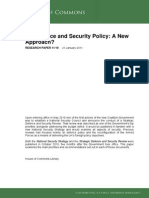 UK Defence and Security Policy
