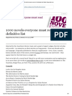 1000 Novels Everyone Must Read_ the Definitive List _ Books _ Theguardian