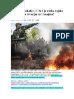 Dan Velike Eskalacije Da Li Je Ruska Vojska Pokrenula Invaziju Na Ukrajinu