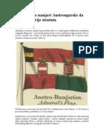 Dokument o Namjeri Austrougarske Da Ratuje i Prije Atentata