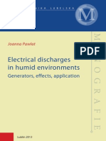 Electrical discharges in humid environments Generators, effects, application