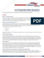 Security Clearance Faq
