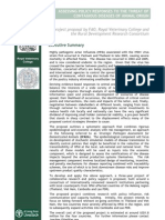 Assessing Policy Responses to the Threat of Contagious Diseases Of