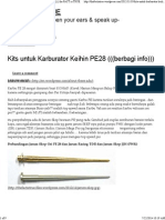 Kits Untuk Karburator Keihin PE28 (((Berbagi Info))) _ the FACT is TRUE