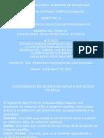 Presentación NOTACIÓN INFIJA Y POSFIJA