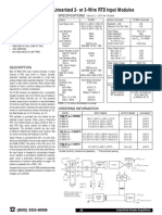 DI-5B34 Linearized 2- Or 3-Wire RTD Input Modules