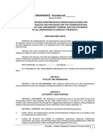 Comprehensive Zoning Ordinance for the City of Baguio 2012