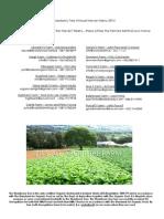 suppliers list for harvest menu 2014