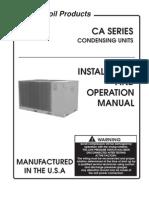 AAON CA Series Condensing Unit IOM