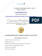 Penn Foster 986032 Consumer Math, Part 1 Study Guide