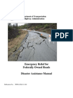 Emergency Relief for Federally Owned Roads Disaster