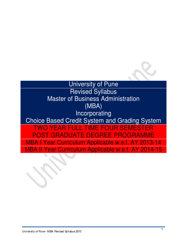 Mba syllabus 2013 cbcgs pattern final thesis test assessment fandeluxe Gallery