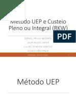 Custeio RKW e Método UEP