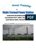 REPORT ON MEJIA THERMAL POWER PLANT(DVC)