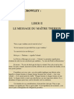 Liber II Le Message Du Maitre Therion